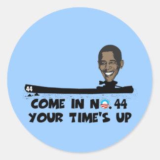 Anti Obama no.44 Adesivos Redondos