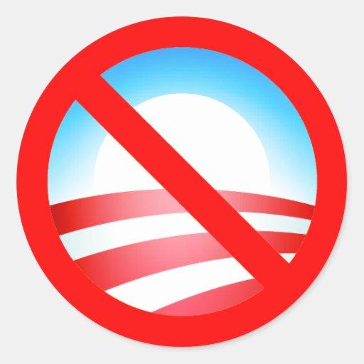 Anti-Obama, Nobama Adesivos Em Formato Redondos