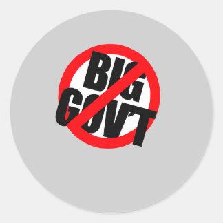 Anti-Obama - o Anti governo grande Adesivos Em Formato Redondos