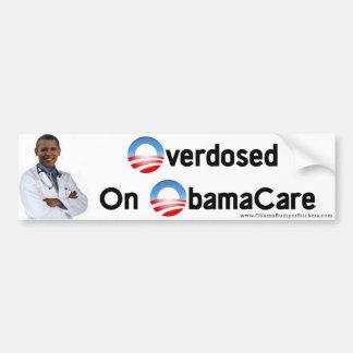 """Anti-Obama """"Overdosed em Obamacare """" Adesivo Para Carro"""