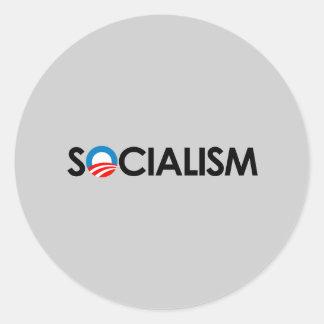 Anti-Obama - preto do socialismo Adesivos Em Formato Redondos