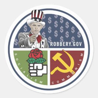 Anti Obama - ROBBERY.GOV Adesivos Em Formato Redondos