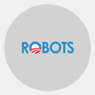 Anti-Obama - robôs Adesivo Redondo