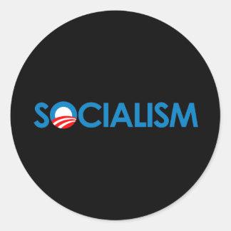 Anti-Obama - socialismo Adesivos Em Formato Redondos