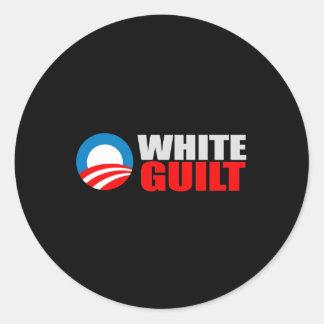 Anti-Obama - t-shirt BRANCO da CULPA Adesivo Em Formato Redondo