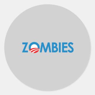 Anti-Obama - zombis Adesivos Redondos