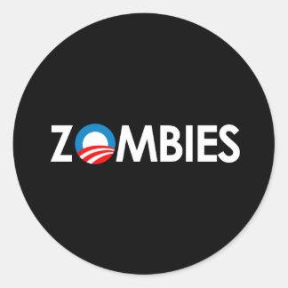 Anti-Obama - zombis brancos Adesivo Em Formato Redondo