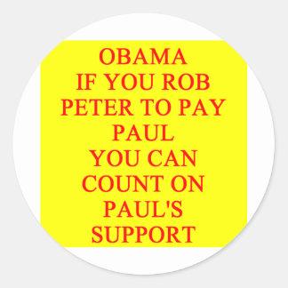 anti piada de Barack Obama Adesivo