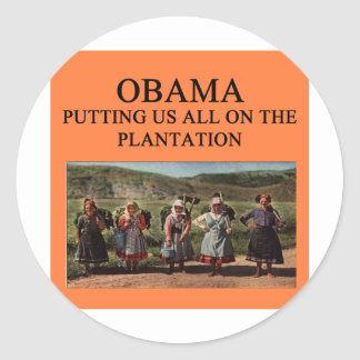 anti plantação de obama adesivo redondo