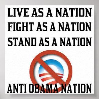 Anti poster da nação de Obama Pôster