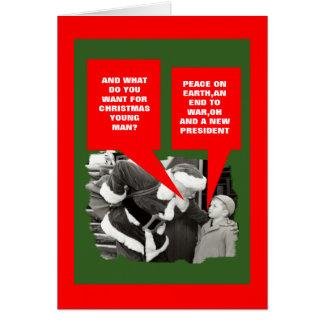 Anti presidente Obama boas festas Cartão Comemorativo