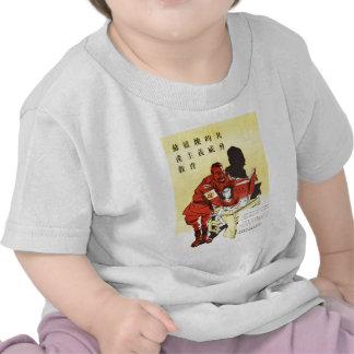 Anti roupa soviético velho da propaganda do russo t-shirt