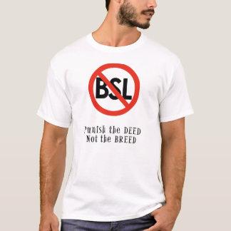 Anti Tshirt de BSL: Puna a ação, não a raça Camiseta