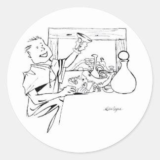 antiga do farta do mesa do comida do desenho do adesivo