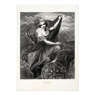 Antigo romano grego de Diana Artemis da deusa do v Convite Personalizado