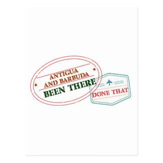 Antígua e Barbuda feito lá isso Cartão Postal