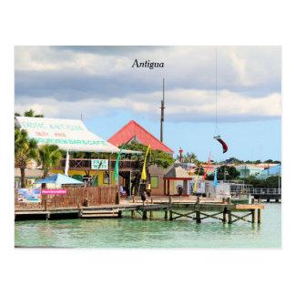 Antígua, ilha no caribe cartão postal