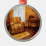 Antiguidade - cadeira - aposentadoria da sala de v ornamentos para arvore de natal
