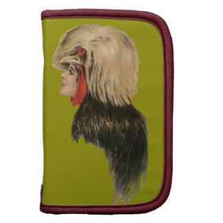 Antiguidade da mulher do chapéu do pássaro da mant agenda