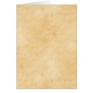 Antiguidade velha Mottled manchada pergaminho do Cartão Comemorativo