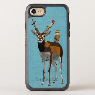 ANTÍLOPE, PENAS & AZUL DA CORUJA CAPA PARA iPhone 7 OtterBox SYMMETRY