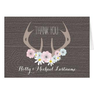 Antlers florais + Cartões de agradecimentos de