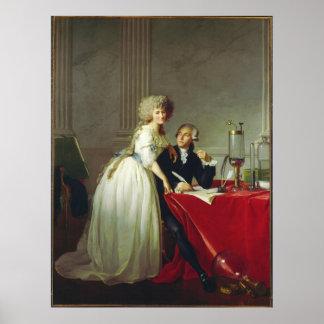 Antoine-Laurent Lavoisier e esposa Pôster