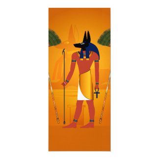 Anubis, egípcio antigo convites personalizado