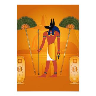 Anubis, egípcio antigo convite 12.7 x 17.78cm