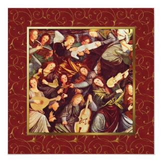 Anunciando anjos. Cartões de Natal religiosos Convites Personalizados