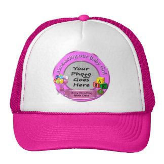 Anunciando nosso chapéu dos camionistas do bebé boné