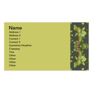 anuncie com cartão floral cartão de visita