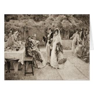 Anúncio 1898 do noivado cartão comemorativo grande