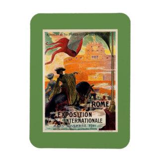 Anúncio 1911 antigo do viagem da expo de Roma do Ímã