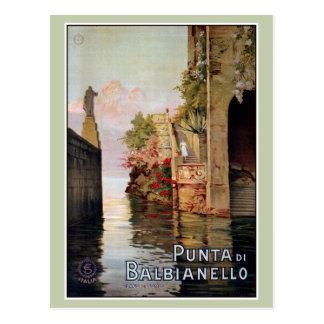Anúncio 1920 italiano do viagem de Como Lenno do Cartão Postal