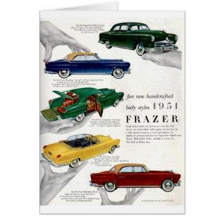 Anúncio 1951 autombile de Frazer