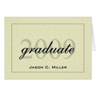 Anúncio 2009 elegante da graduação cartão de nota