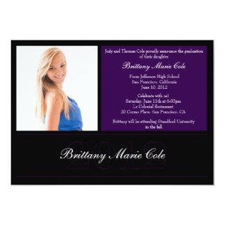 Anúncio 2012 da graduação convite personalizado