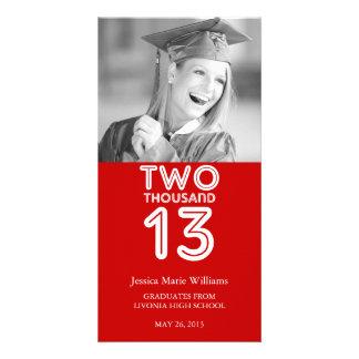 Anúncio   2013 da graduação cartão com foto