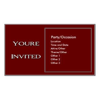 Anúncio 2 do partido cartão de visita
