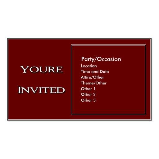 Anúncio 2 do partido cartões de visita