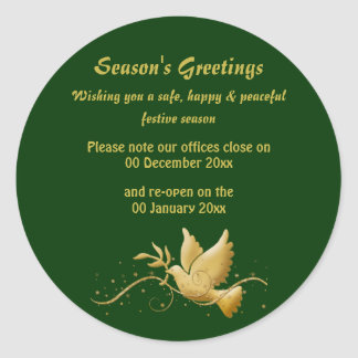 Anúncio aberto fechado da consciência das datas do adesivo