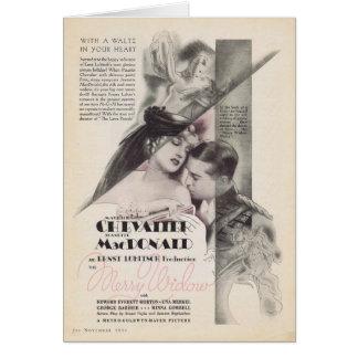Anúncio alegre 1934 do filme da viúva de Jeanette