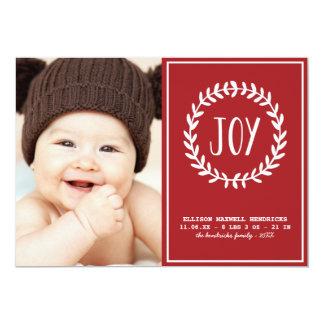 Anúncio alegre do nascimento do feriado dos convite 12.7 x 17.78cm