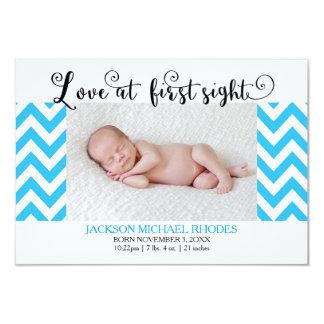 Anúncio azul do amor @1st Sight-3x5Birth de