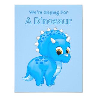 Anúncio bonito da gravidez do bebé do dinossauro convite 10.79 x 13.97cm