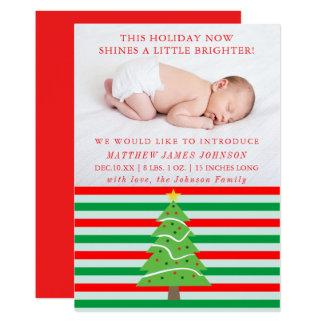 Anúncio brilhante do nascimento do Natal do brilho