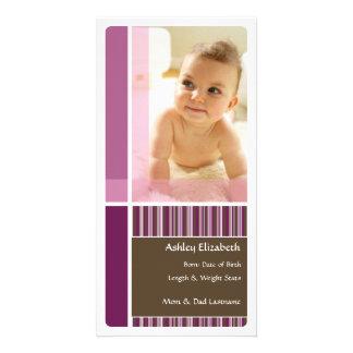 Anúncio/cartão com fotos do bebê cartão com foto