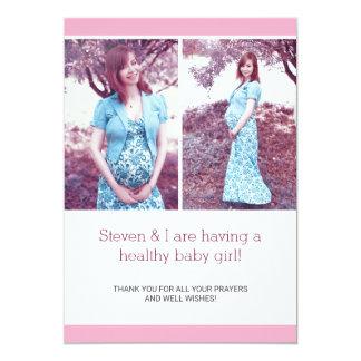 Anúncio chique cor-de-rosa da gravidez da colagem