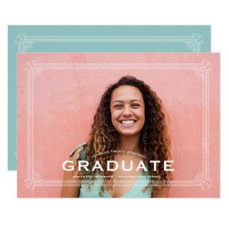 Anúncio chique do convite da graduação da beira